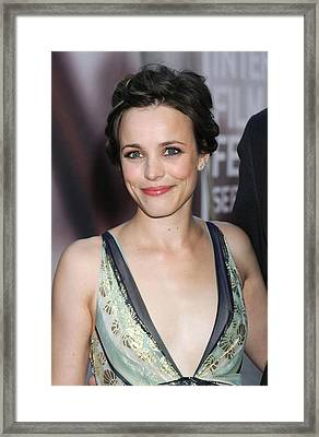 Rachel Mcadams At Arrivals For The Framed Print