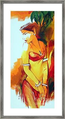 Radha Framed Print by Manish Verma