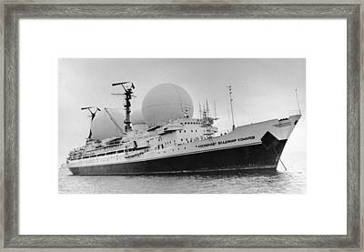 Radio Antennae On A Soviet Ship Framed Print
