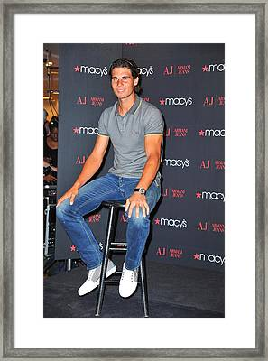 Rafael Nadal At In-store Appearance Framed Print