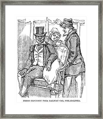 Railway Segregation, 1856 Framed Print by Granger