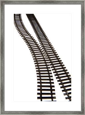 Railway Tracks Framed Print by Bernard Jaubert