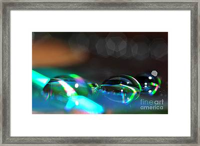 Framed Print featuring the photograph Rainbow Drops by Sylvie Leandre