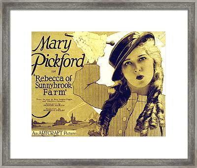 Rebecca Of Sunnybrook Farm, Mary Framed Print by Everett