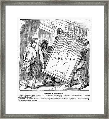 Reconstruction Cartoon Framed Print