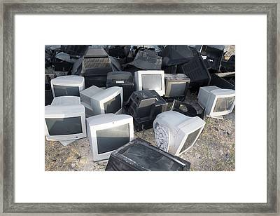 Recycling Collection Point Framed Print by Carlos Dominguez