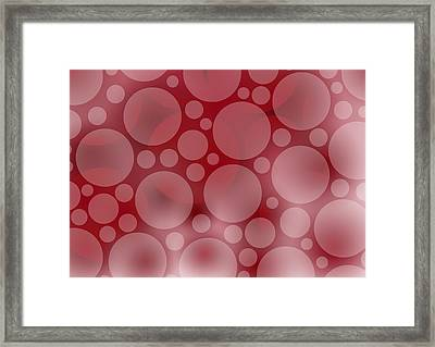 Red Abstract Circles Framed Print by Frank Tschakert