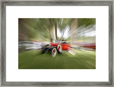 Red Antique Car Framed Print by Randy J Heath