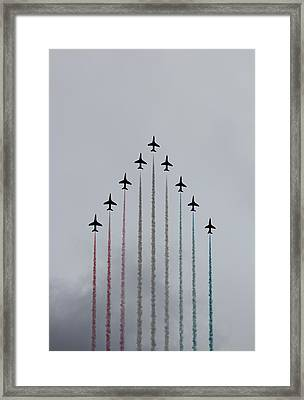 Red Arrows Vertical Framed Print