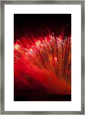 Red Blaze Framed Print by Paul Mangold