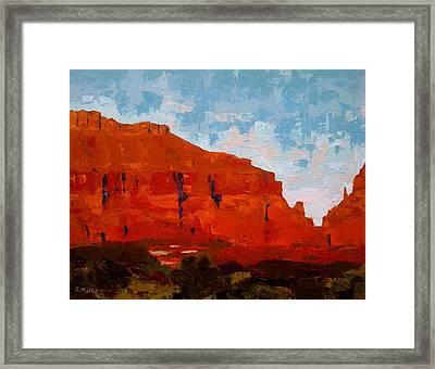 Red Cliffs Framed Print