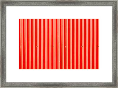 Red Corrugated Metal Framed Print