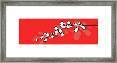 Red Cotton Framed Print by Nomi Elboim