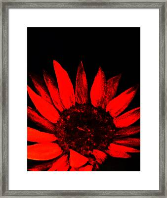 Framed Print featuring the painting Red Flower by Monica Furlow