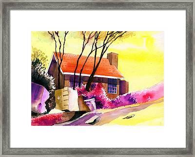 Red House Framed Print by Anil Nene