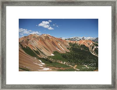 Red Mountain Framed Print