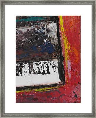 Red Piano Series 4 Framed Print by Anita Burgermeister