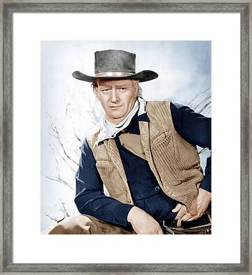 Red River, John Wayne, 1948 Framed Print by Everett