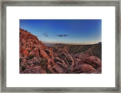 Red Rock Sunset Framed Print