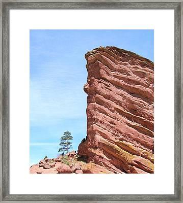 Red Rocks Framed Print by Arlene Carmel