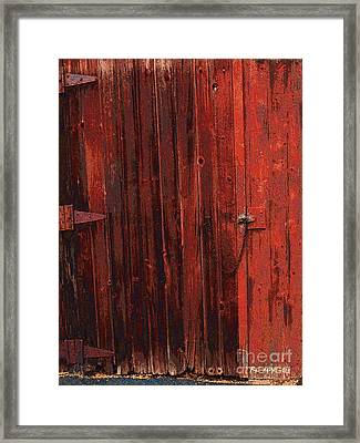 Red Shed Framed Print by RC DeWinter