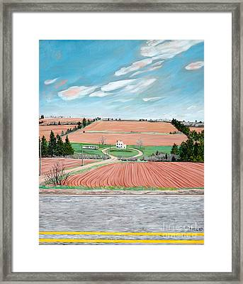 Red Soil On Prince Edward Island Framed Print