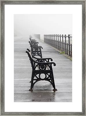 Redcar, North Yorkshire, England Row Of Framed Print by John Short