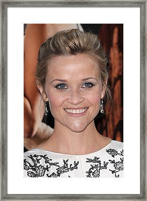Reese Witherspoon At Arrivals For Water Framed Print by Everett