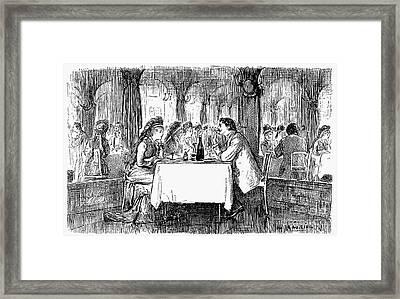Restaurant, 19th Century Framed Print by Granger