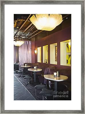 Restaurant Bar Seating Framed Print by Andersen Ross