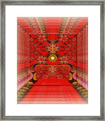 Framed Print featuring the digital art Resurrection City  by Ray Tapajna