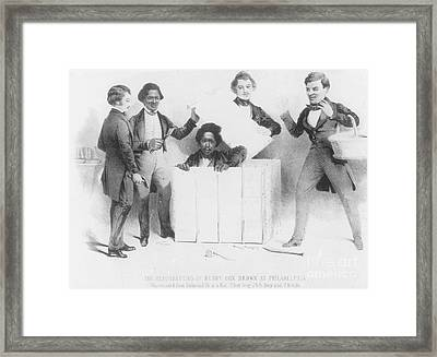 Resurrection Of Henry Box Brown Framed Print by Photo Researchers