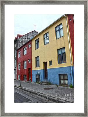 Reykjavik Iceland - Colorful House Framed Print by Gregory Dyer