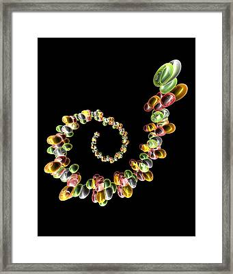 Ribonucleic Acid, Conceptual Artwork Framed Print by Pasieka