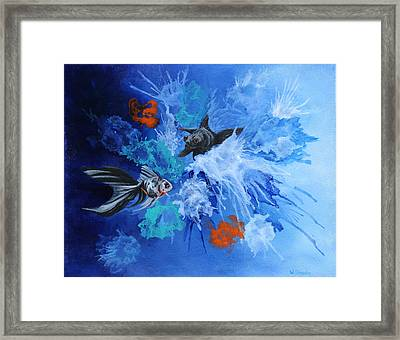 Framed Print featuring the painting Richies Fish by Wendy Shoults