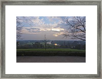 Framed Print featuring the photograph Richmond Sunset by Maj Seda