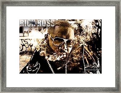 Rick Ross Framed Print by The DigArtisT