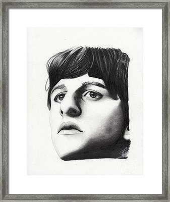 Ringo Starr Framed Print by Rosalinda Markle