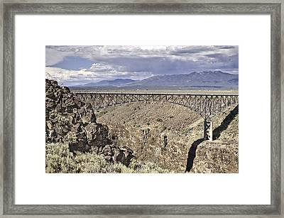 Rio Grande Gorge Bridge Framed Print by Melany Sarafis