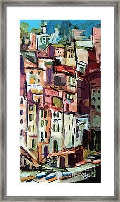 Riomaggiore Italy Cinque Terre  Framed Print
