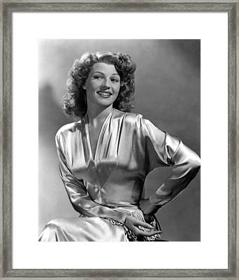 Rita Hayworth, Portrait Framed Print by Everett