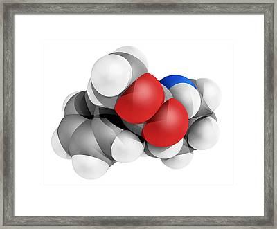 Ritalin Molecule Framed Print by Laguna Design