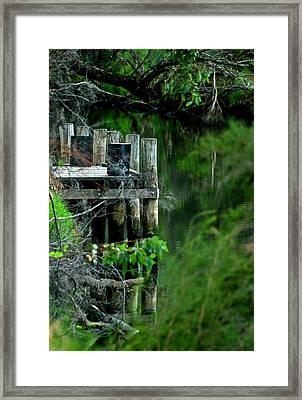 River Mooring Framed Print