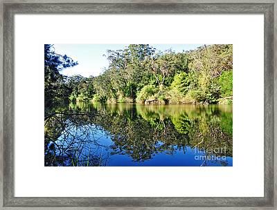 River Reflections Framed Print by Kaye Menner