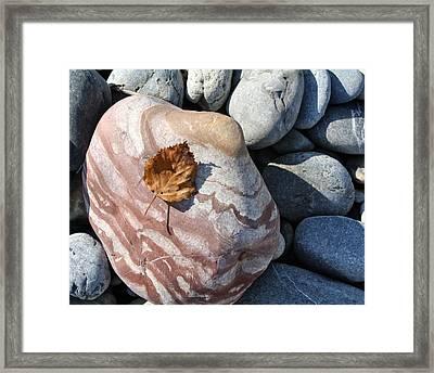 River Rocks Mountain Stream Framed Print
