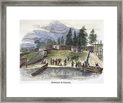 Roanoke: Colony, C1587 Framed Print
