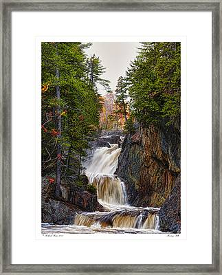 Framed Print featuring the photograph Roaring Falls by Richard Bean