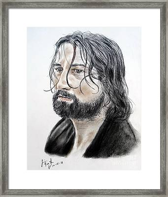 Robert De Niro In The Mission Framed Print by Jim Fitzpatrick