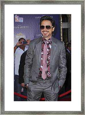 Robert Downey Jr. At Arrivals Framed Print