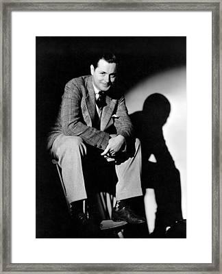 Robert Montgomery, Mgm Portrait Framed Print by Everett